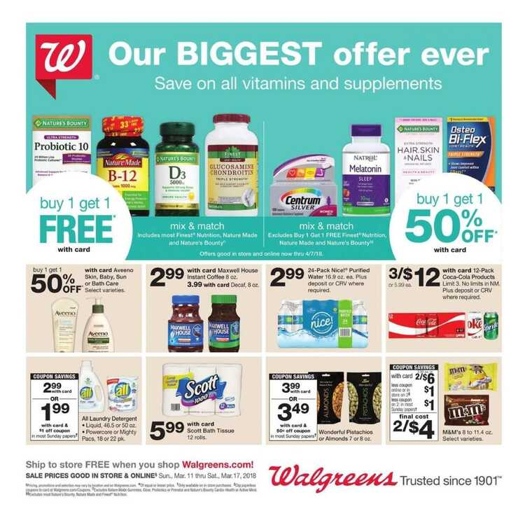 walgreens weekly ad last week March 11 to 17 2018
