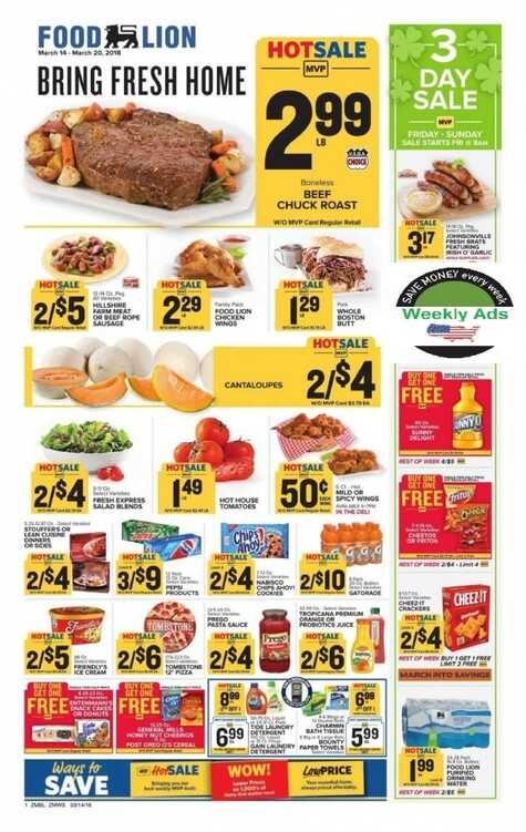 Food Lion Weekly Ad Charles Town Wv March 14 20 2018 Page 4 Of