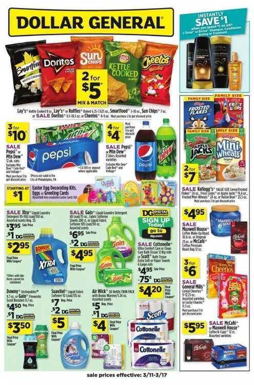 dollar general weekly ad this week 3/11 to 3/17 2018