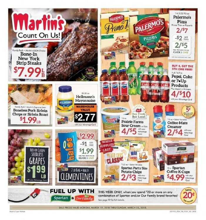 martin's super markets weekly ad 3/19 to 3/25 2018