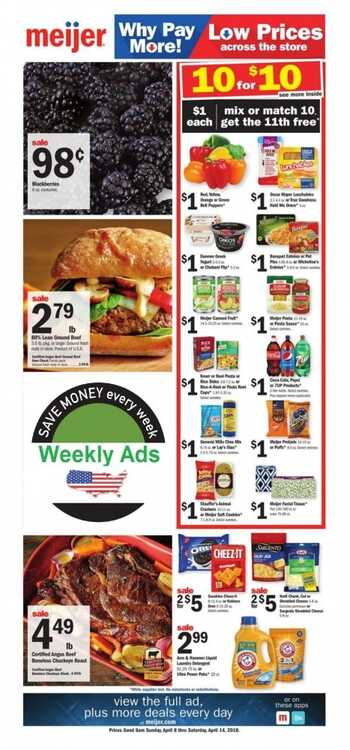 meijer weekly ad 4/8/2018 to 4/14/2018 Meijer 2 Day Sale