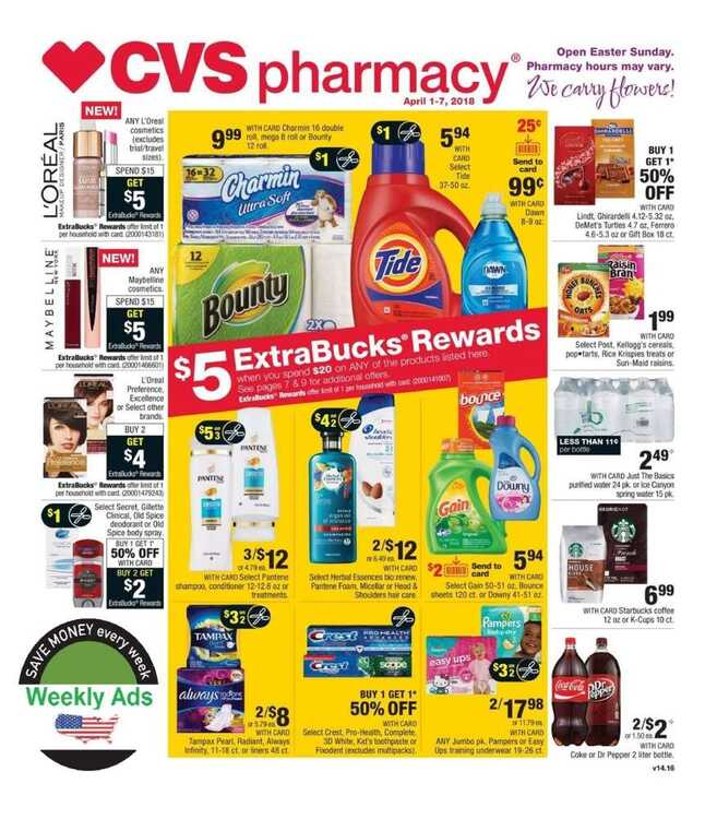 cvs weekly ad 4/1