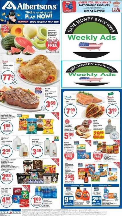 albertsons weekly ad ca valid to May 8 2018