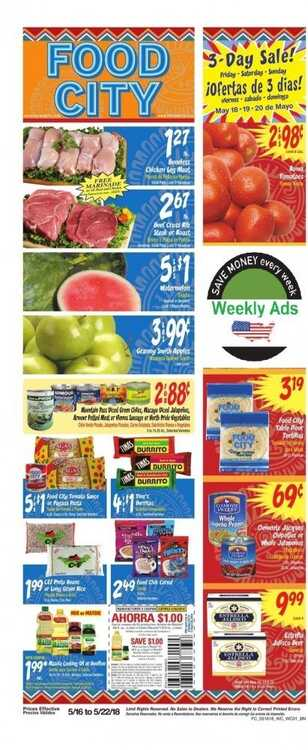 food city weekly ad 5/16 to 5/22 2018 3 day sale