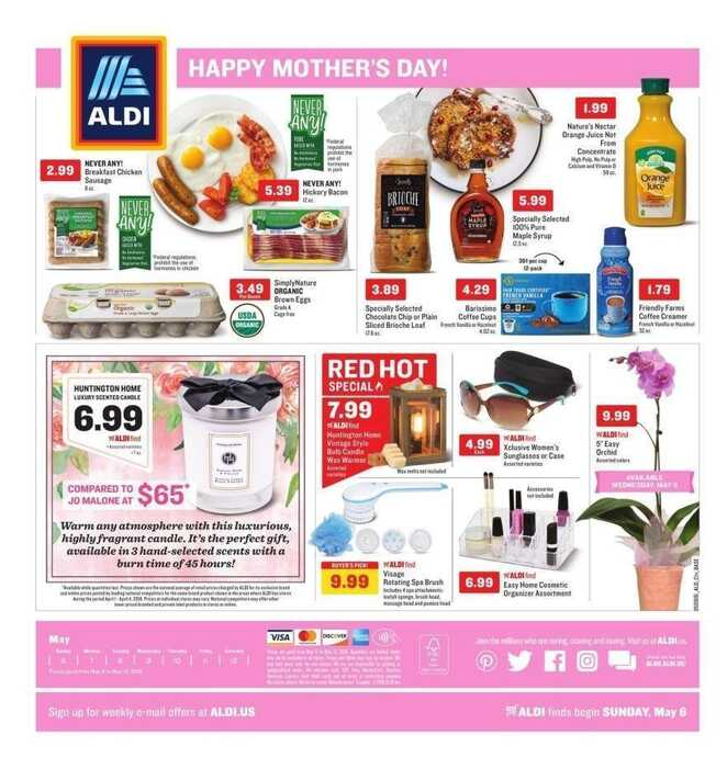 aldi weekly ad Happy Mother's Day! valid to May 12 2018