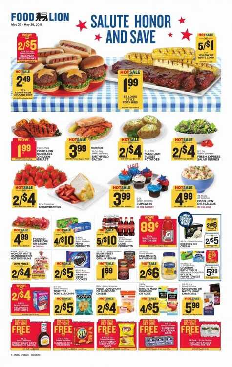 food lion weekly ad salute honor and save valid to 5/29 2018