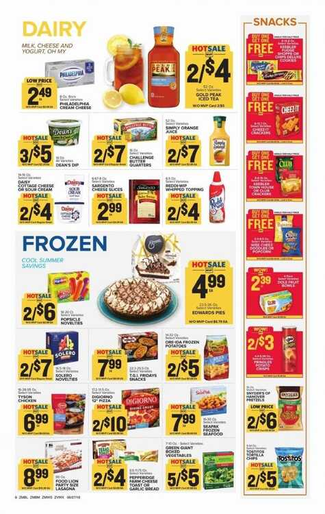 food lion weekly ad specials 6/29 to 7/3 2018