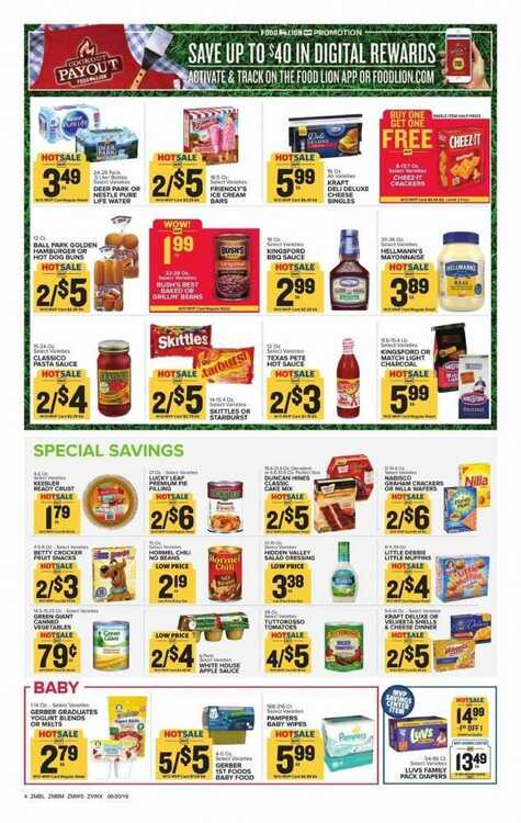 food lion sales circular for this week 6/21 to 6/26 2018