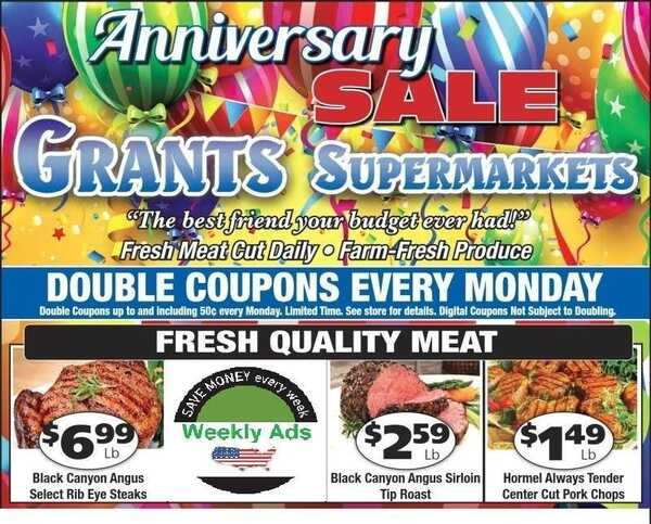 Grant's ads Sparta ONLY anniversary