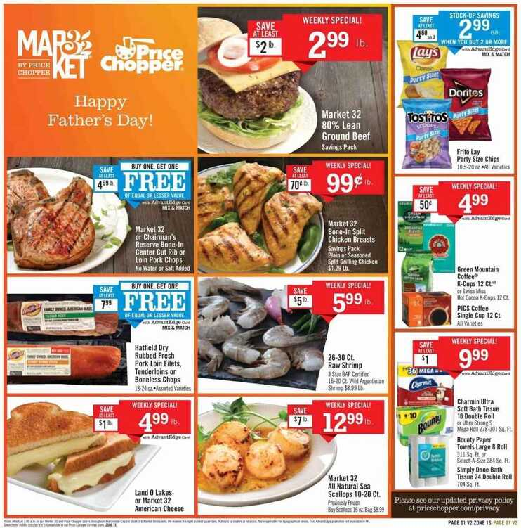 Price Chopper weekly ad june 17 - 23 2018 Hot Deals