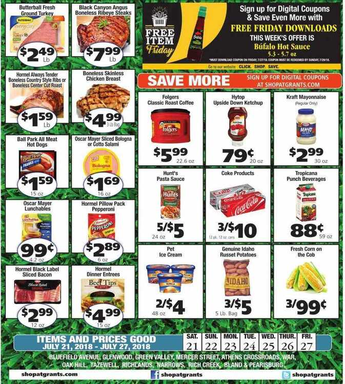 grants supermarket weekly ads July 21 to July 27 2018