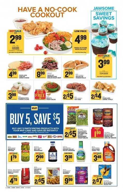 Food Lion Weekly Ad 718 To 724 Sweeten Your Summer With Savings