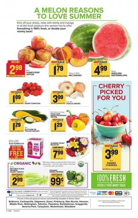 food lion weekly ad 3 day 7/8 to 7/10 2018 All Locations