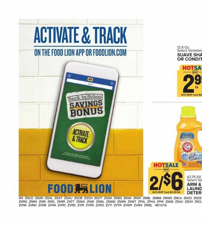 Food Lion Weekly Ad Charlotte Nc 817 To 821 2018 Page 18 Of 19