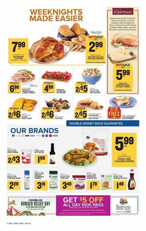 Food Lion Weekly Ad Charlotte Nc 817 To 821 2018 Page 4 Of 19