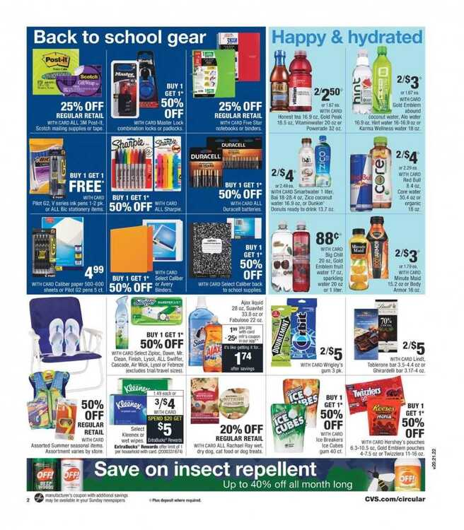 cvs weekly ad this week 8/12