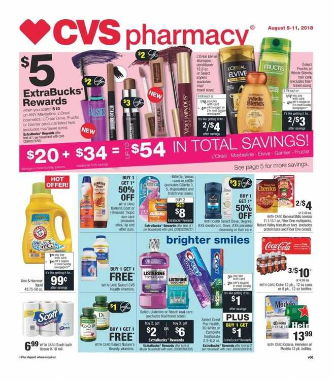 cvs weekly ad 8/8 to 8/11 2018 CVS Pharmacy August 2018