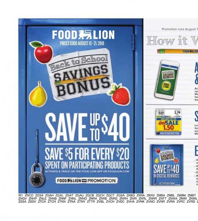 Food Lion Weekly Ad Charlotte Nc 817 To 821 2018 Page 12 Of 19