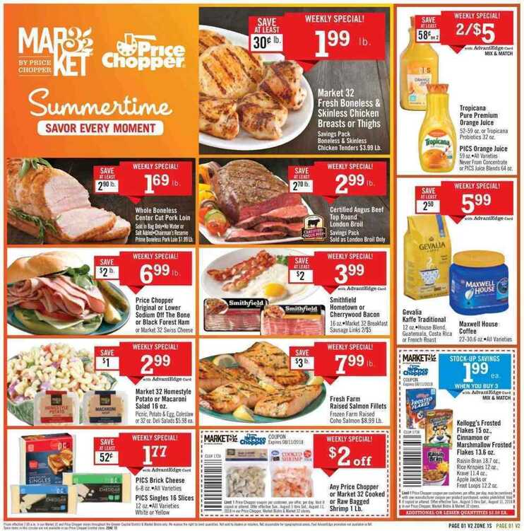 price chopper weekly ad 8/8 to 8/11 2018
