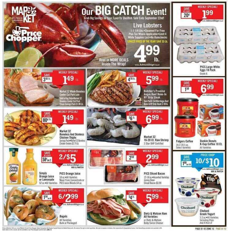 price chopper flyer this week 9/18
