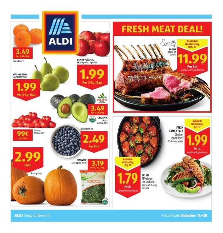 aldi weekly ad this week October 15