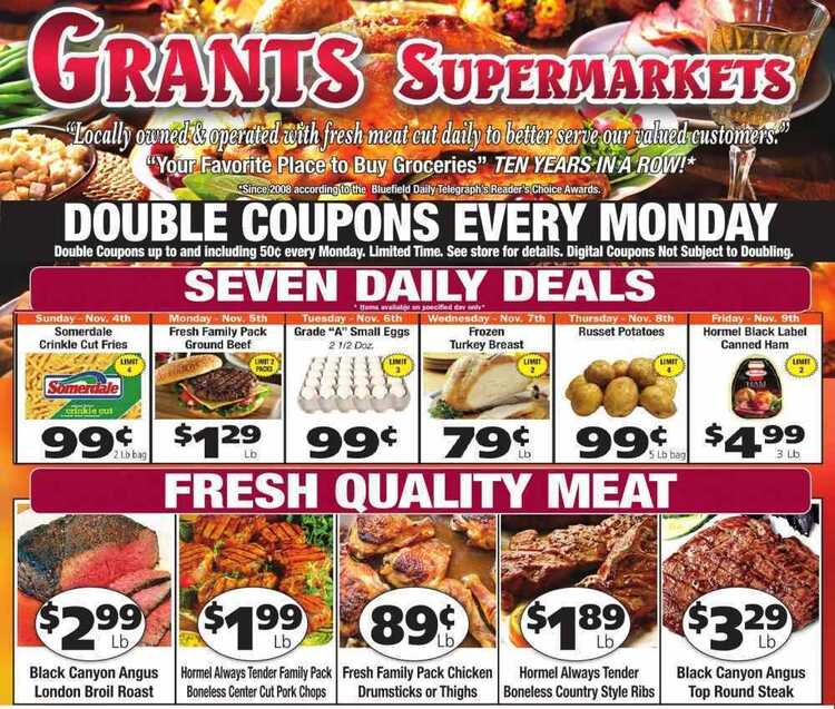 grant's weekly ad 11/3